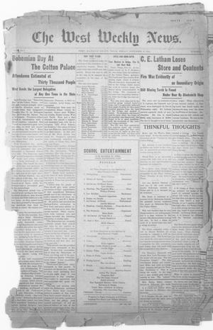 Primary view of object titled 'The West Weekly News. (West, Tex.), Vol. 2, No. 7, Ed. 1 Friday, November 18, 1910'.