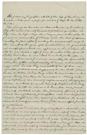 Primary view of object titled '[Letter from Frank Johnson to Julia Zavala, July 24, 1882]'.