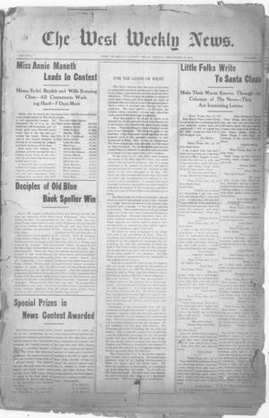 Primary view of object titled 'The West Weekly News. (West, Tex.), Vol. 2, No. 11, Ed. 1 Friday, December 16, 1910'.