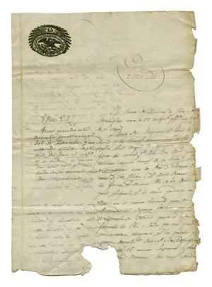 Primary view of [Letter from Jose Maria Viesca, October 13, 1829]