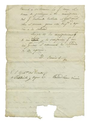 Primary view of object titled '[Letter from Jose Maria Viesca concerning the affairs of the colonization of the state of Coahuila and Texas, June 4, 1828]'.