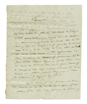 Primary view of object titled '[Letter from Lorenzo de Zavala to unknown person, May 07, 1828]'.