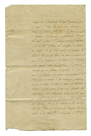 Primary view of [Letter from Bocanegra to unknown person, February 10, 1829]