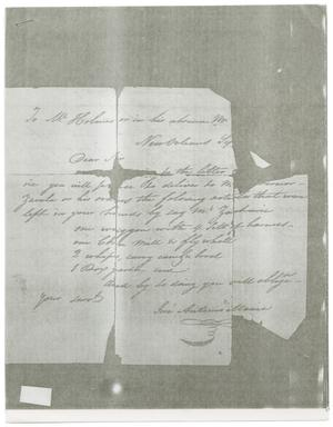 Primary view of object titled '[Letter from Jose Antonio Mexia to a Mr. Holmes, September]'.