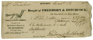 [Receipt of Fan Mill purchase and passage, December 13, 1830]