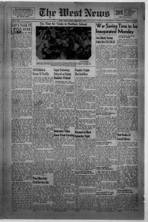 Primary view of object titled 'The West News (West, Tex.), Vol. 52, No. 37, Ed. 1 Friday, February 6, 1942'.