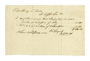 Primary view of object titled '[Zavala's receipt of purchase from C. E. Childes, October 20, 1830]'.
