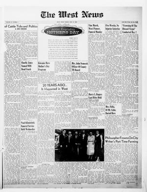 Primary view of object titled 'The West News (West, Tex.), Vol. 66, No. 1, Ed. 1 Friday, May 11, 1956'.