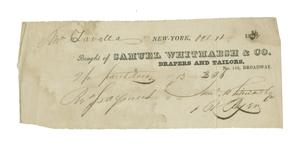 Primary view of object titled '[A Receipt for Zavala's pants, October 11, 1830]'.