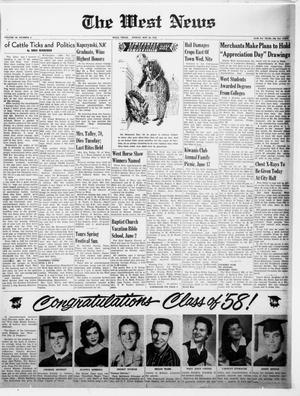 Primary view of The West News (West, Tex.), Vol. 68, No. 4, Ed. 1 Friday, May 30, 1958
