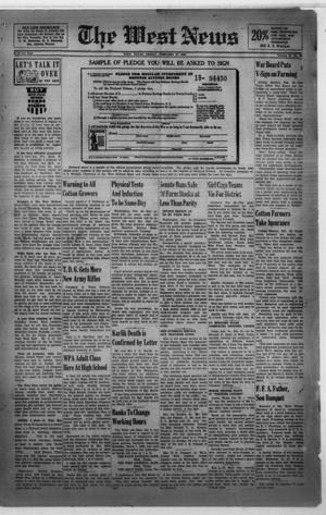Primary view of object titled 'The West News (West, Tex.), Vol. 52, No. 40, Ed. 1 Friday, February 27, 1942'.