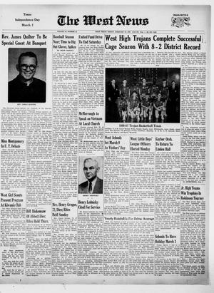 Primary view of The West News (West, Tex.), Vol. 76, No. 44, Ed. 1 Friday, February 24, 1967