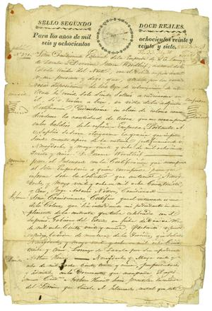 Primary view of object titled '[Petition letter number 371]'.