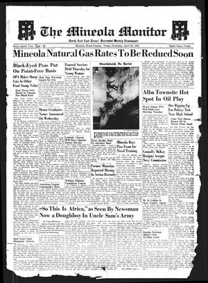 Primary view of object titled 'The Mineola Monitor (Mineola, Tex.), Vol. 68, No. 04, Ed. 1 Thursday, April 22, 1943'.
