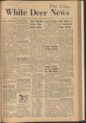 Primary view of object titled 'White Deer News (White Deer, Tex.), Vol. 10, No. 15, Ed. 1 Thursday, May 29, 1969'.