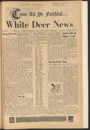 Primary view of object titled 'White Deer News (White Deer, Tex.), Vol. 10, No. 45, Ed. 1 Thursday, December 25, 1969'.