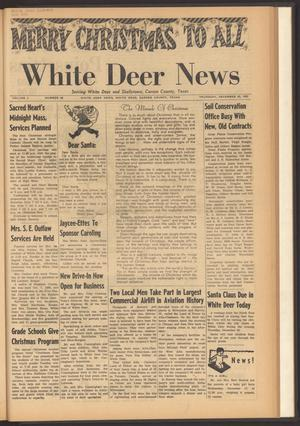Primary view of object titled 'White Deer News (White Deer, Tex.), Vol. 3, No. 40, Ed. 1 Thursday, December 20, 1962'.