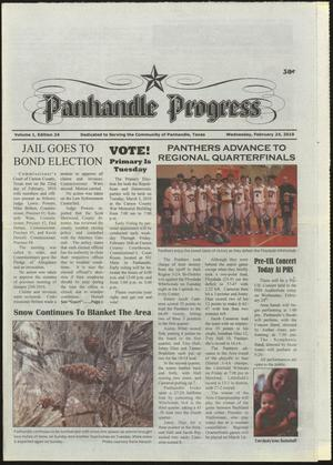 Primary view of object titled 'Panhandle Progress (Panhandle, Tex.), Vol. 1, No. 24, Ed. 1 Wednesday, February 24, 2010'.