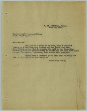 Primary view of object titled '[Letter from R. Osthoff to J. M. Weidenschilling, June 21, 1928]'.