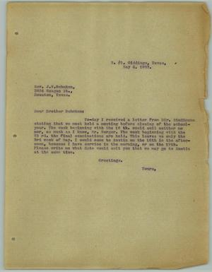 Primary view of object titled '[Letter from R. Osthoff to J. W. Behnken, May 4, 1932]'.
