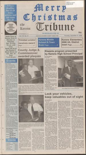 Primary view of object titled 'The Kerens Tribune (Kerens, Tex.), Vol. 114, No. 51, Ed. 1 Thursday, December 21, 2006'.
