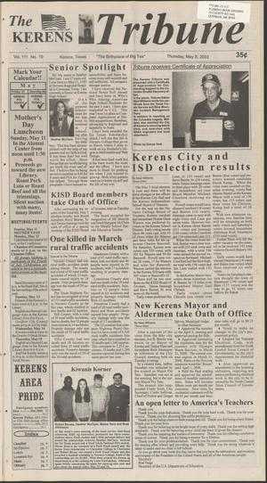 Primary view of object titled 'The Kerens Tribune (Kerens, Tex.), Vol. 111, No. 19, Ed. 1 Thursday, May 8, 2003'.
