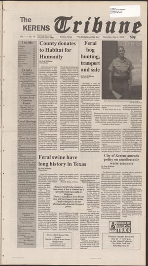 Primary view of object titled 'The Kerens Tribune (Kerens, Tex.), Vol. 114, No. 18, Ed. 1 Thursday, May 11, 2006'.