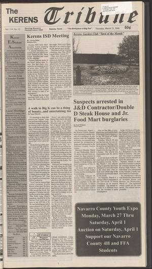 Primary view of object titled 'The Kerens Tribune (Kerens, Tex.), Vol. 114, No. 12, Ed. 1 Thursday, March 23, 2006'.