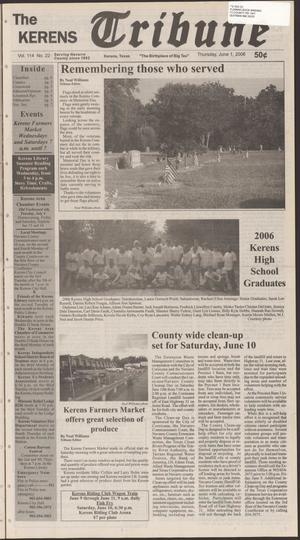 Primary view of object titled 'The Kerens Tribune (Kerens, Tex.), Vol. 114, No. 22, Ed. 1 Thursday, June 1, 2006'.