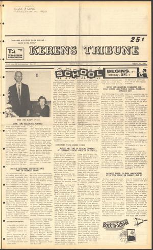 Primary view of object titled 'Kerens Tribune (Kerens, Tex.), Vol. 95, No. 31, Ed. 1 Thursday, August 20, 1987'.