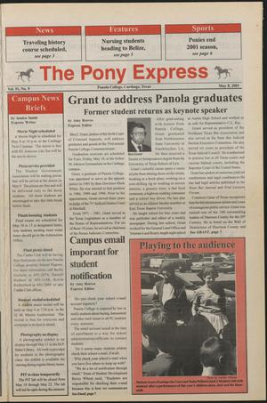 Primary view of object titled 'The Pony Express (Carthage, Tex.), Vol. 51, No. 10, Ed. 1 Tuesday, May 8, 2001'.