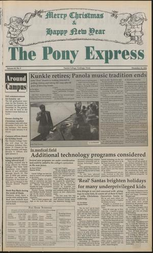 Primary view of object titled 'The Pony Express (Carthage, Tex.), Vol. 45, No. 5, Ed. 1 Monday, December 12, 1994'.
