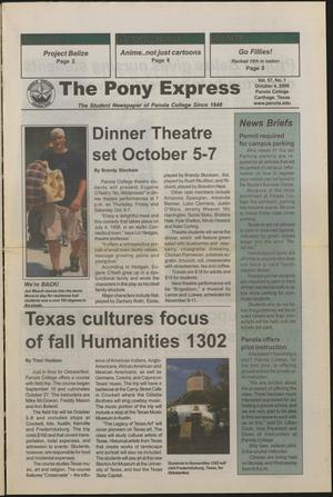 Primary view of object titled 'The Pony Express (Carthage, Tex.), Vol. 57, No. 1, Ed. 1 Wednesday, October 4, 2006'.