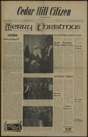 Primary view of object titled 'Cedar Hill Citizen (Cedar Hill, Tex.), Vol. 2, No. 24, Ed. 1 Thursday, December 20, 1973'.