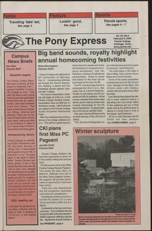 Primary view of object titled 'The Pony Express (Carthage, Tex.), Vol. 53, No. 5, Ed. 1 Thursday, February 6, 2003'.
