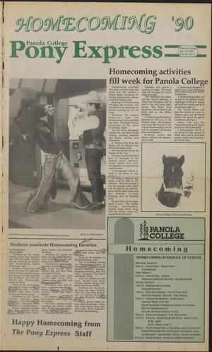 Primary view of object titled 'Panola College Pony Express (Carthage, Tex.), Vol. 40, No. 8, Ed. 1 Monday, January 29, 1990'.