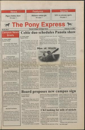 Primary view of object titled 'The Pony Express (Carthage, Tex.), Vol. 51, No. 8, Ed. 1 Monday, February 19, 2001'.