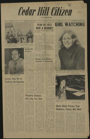 Primary view of object titled 'Cedar Hill Citizen (Cedar Hill, Tex.), Vol. 2, No. 25, Ed. 1 Thursday, January 3, 1974'.