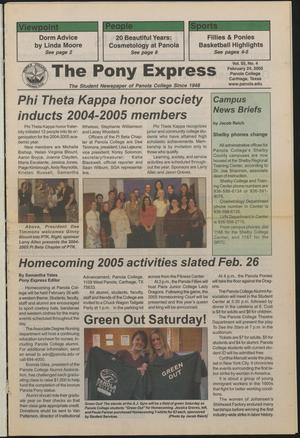 Primary view of object titled 'The Pony Express (Carthage, Tex.), Vol. 55, No. 4, Ed. 1 Thursday, February 24, 2005'.