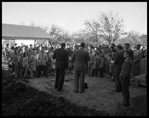 Primary view of object titled 'Groundbreaking at Presbyterian Church'.