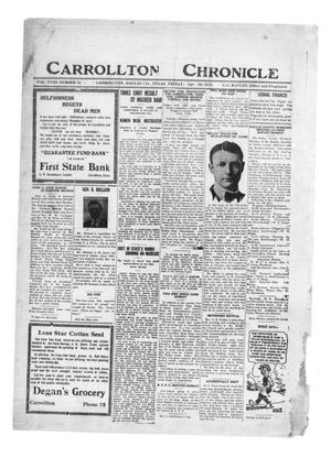 Primary view of object titled 'Carrollton Chronicle (Carrollton, Tex.), Vol. 18, No. 22, Ed. 1 Friday, April 28, 1922'.
