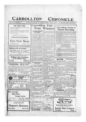 Primary view of object titled 'Carrollton Chronicle (Carrollton, Tex.), Vol. 18, No. 46, Ed. 1 Friday, October 13, 1922'.