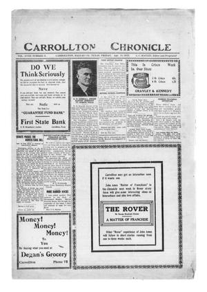 Primary view of object titled 'Carrollton Chronicle (Carrollton, Tex.), Vol. 18, No. 21, Ed. 1 Friday, April 21, 1922'.