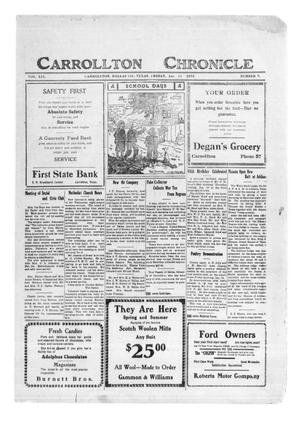 Primary view of object titled 'Carrollton Chronicle (Carrollton, Tex.), Vol. 19, No. 9, Ed. 1 Friday, January 26, 1923'.