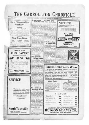Primary view of The Carrollton Chronicle (Carrollton, Tex.), Vol. 21, No. 43, Ed. 1 Friday, September 18, 1925