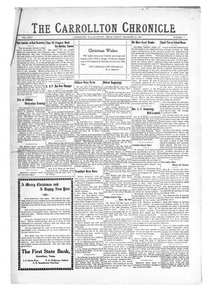 Primary view of object titled 'The Carrollton Chronicle (Carrollton, Tex.), Vol. 24, No. 5, Ed. 1 Friday, December 23, 1927'.