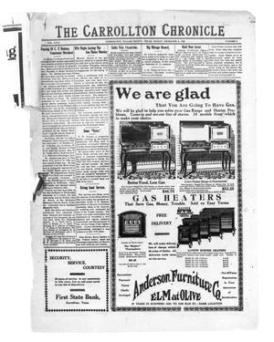 Primary view of object titled 'The Carrollton Chronicle (Carrollton, Tex.), Vol. 23, No. 1, Ed. 1 Friday, December 3, 1926'.