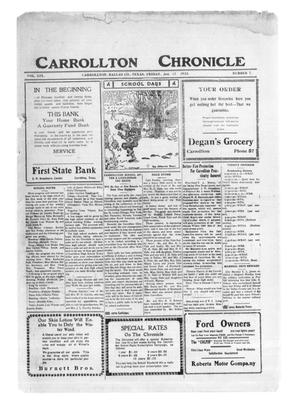 Primary view of object titled 'Carrollton Chronicle (Carrollton, Tex.), Vol. 19, No. 7, Ed. 1 Friday, January 12, 1923'.