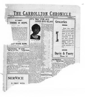 Primary view of object titled 'The Carrollton Chronicle (Carrollton, Tex.), Vol. 20, No. 50, Ed. 1 Friday, November 7, 1924'.