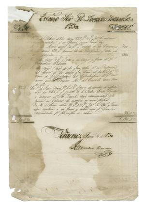 Primary view of object titled '[Letter from Alexandro Troncoso to Zavala, June 16, 1830]'.